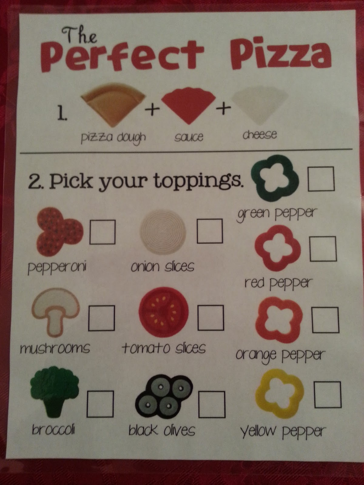 9 Images of Pizza Dramatic Play Menu Printable
