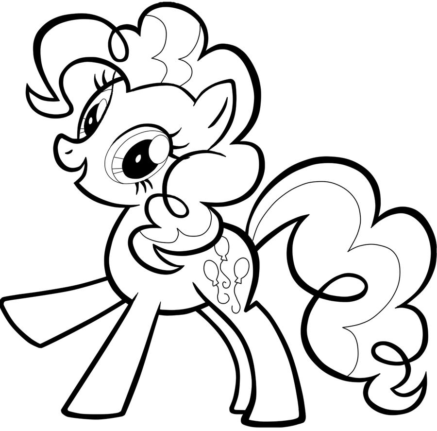 6 Images of Pinkie Pie Coloring Pages Printable