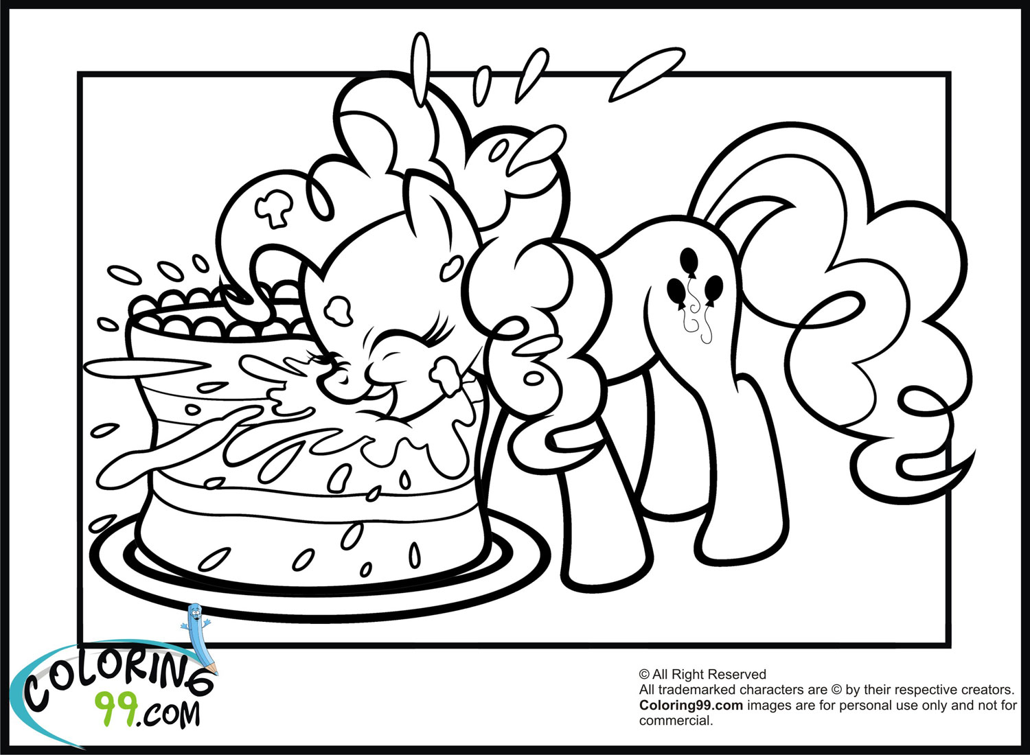 6 Best Images of Pinkie Pie Coloring Pages Printable - My ...