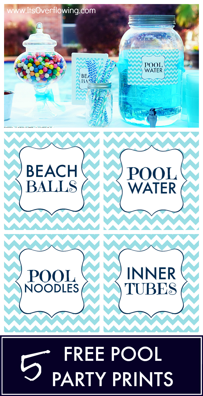 Pool Party Free Printables