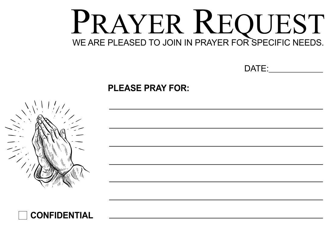Prayer Request Cards Printables