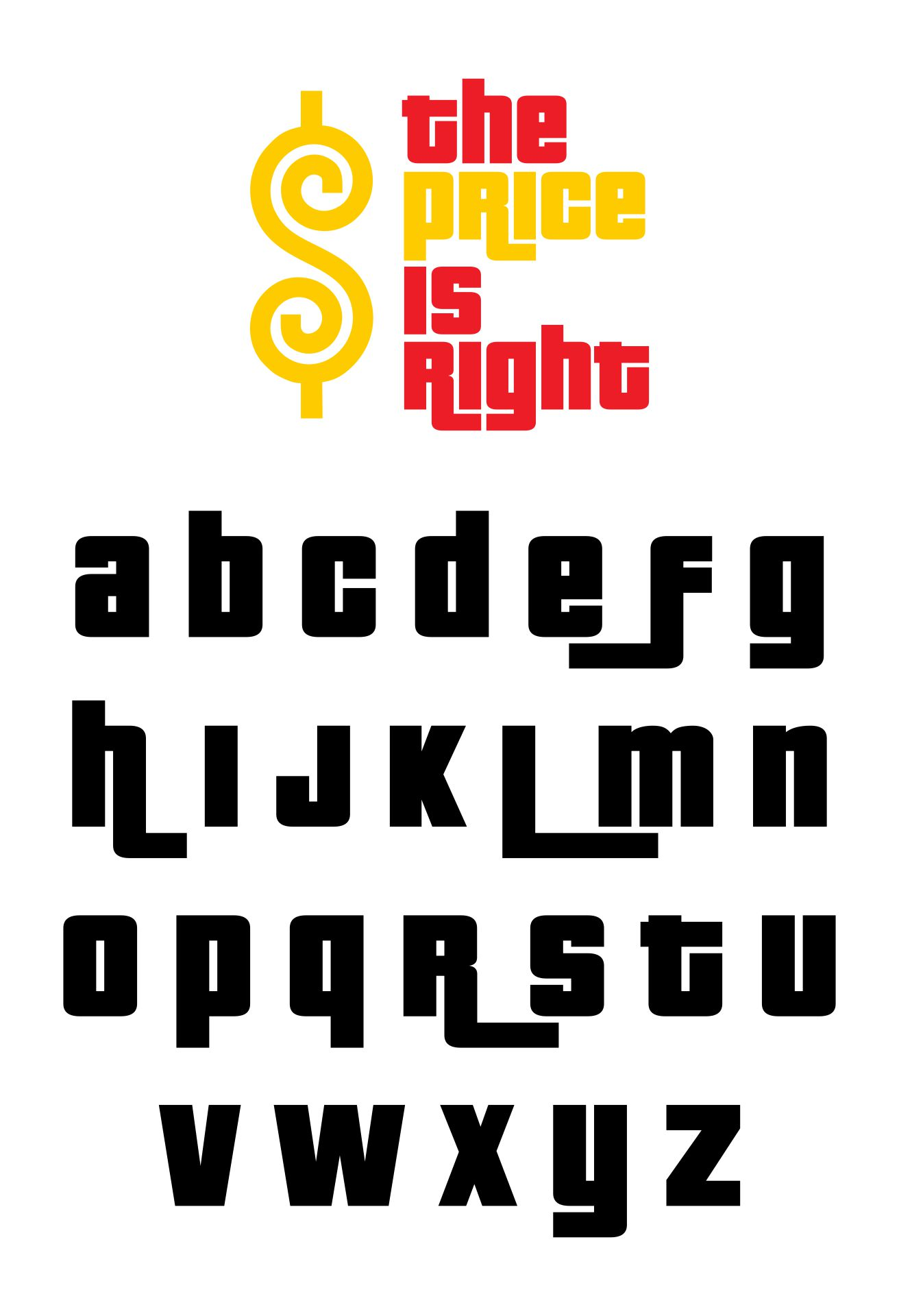 Price Is Right Logo Font