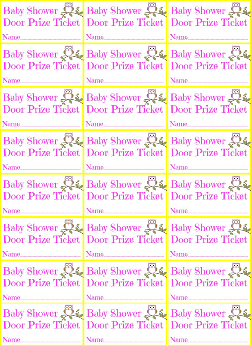 8 Images of Free Printable Prize Tickets