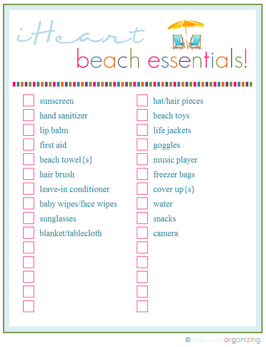 8 Images of Free Beach Printable Checklist