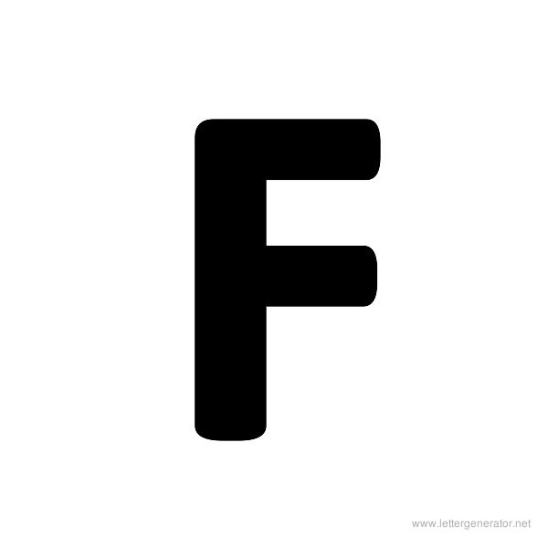 7 Images of Large Printable Size Alphabet Letter F