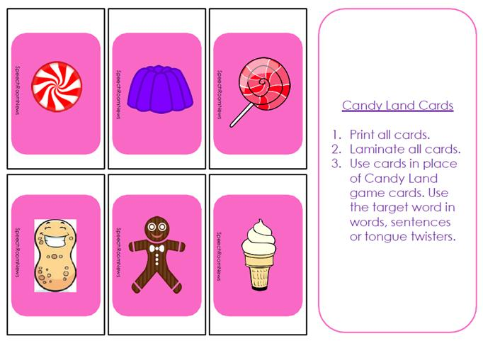 6 Images of Candyland Cards Printable