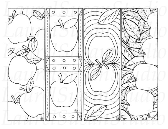 5 best images of autumn bookmarks free printable for Printable autumn coloring pages