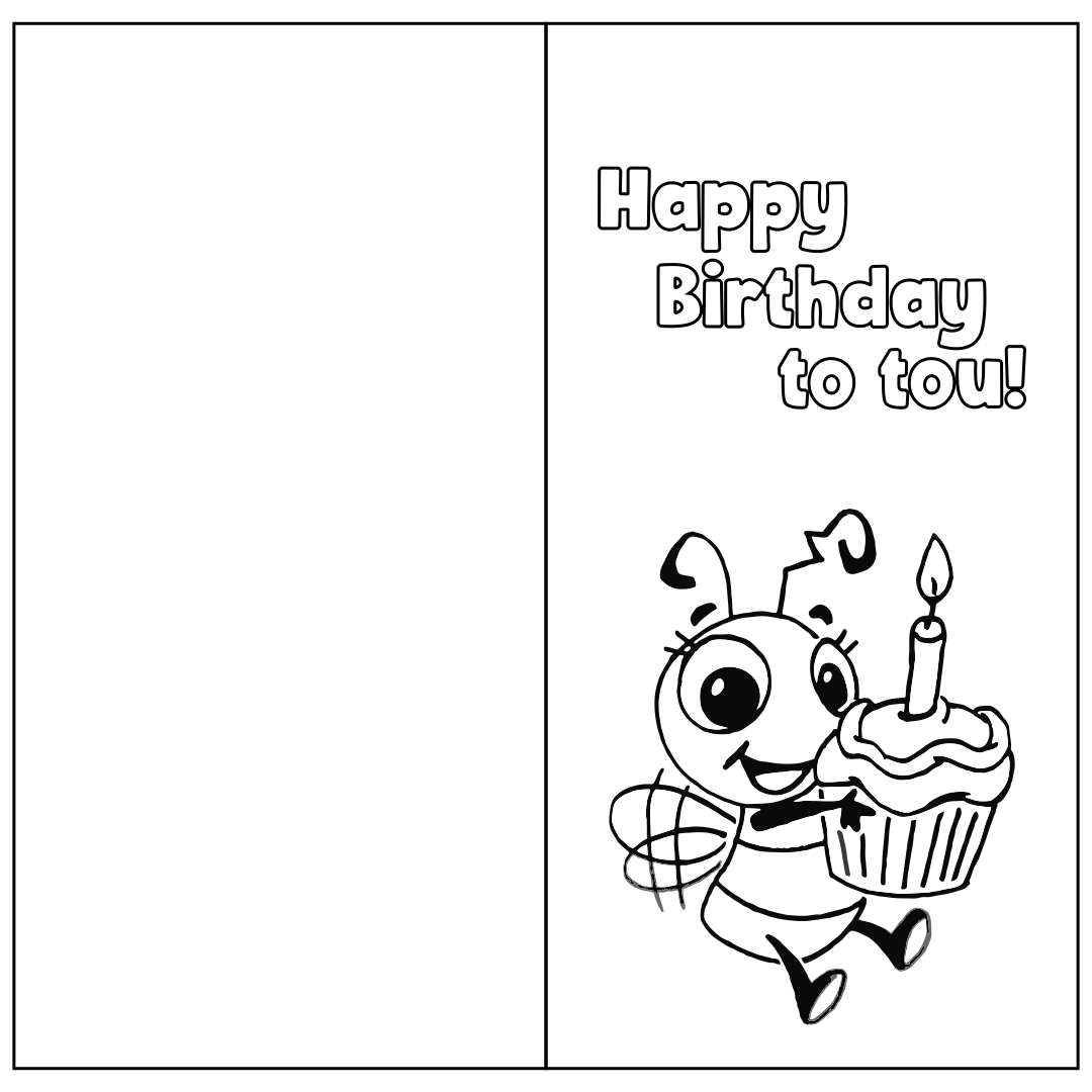 Printable Foldable Birthday Cards