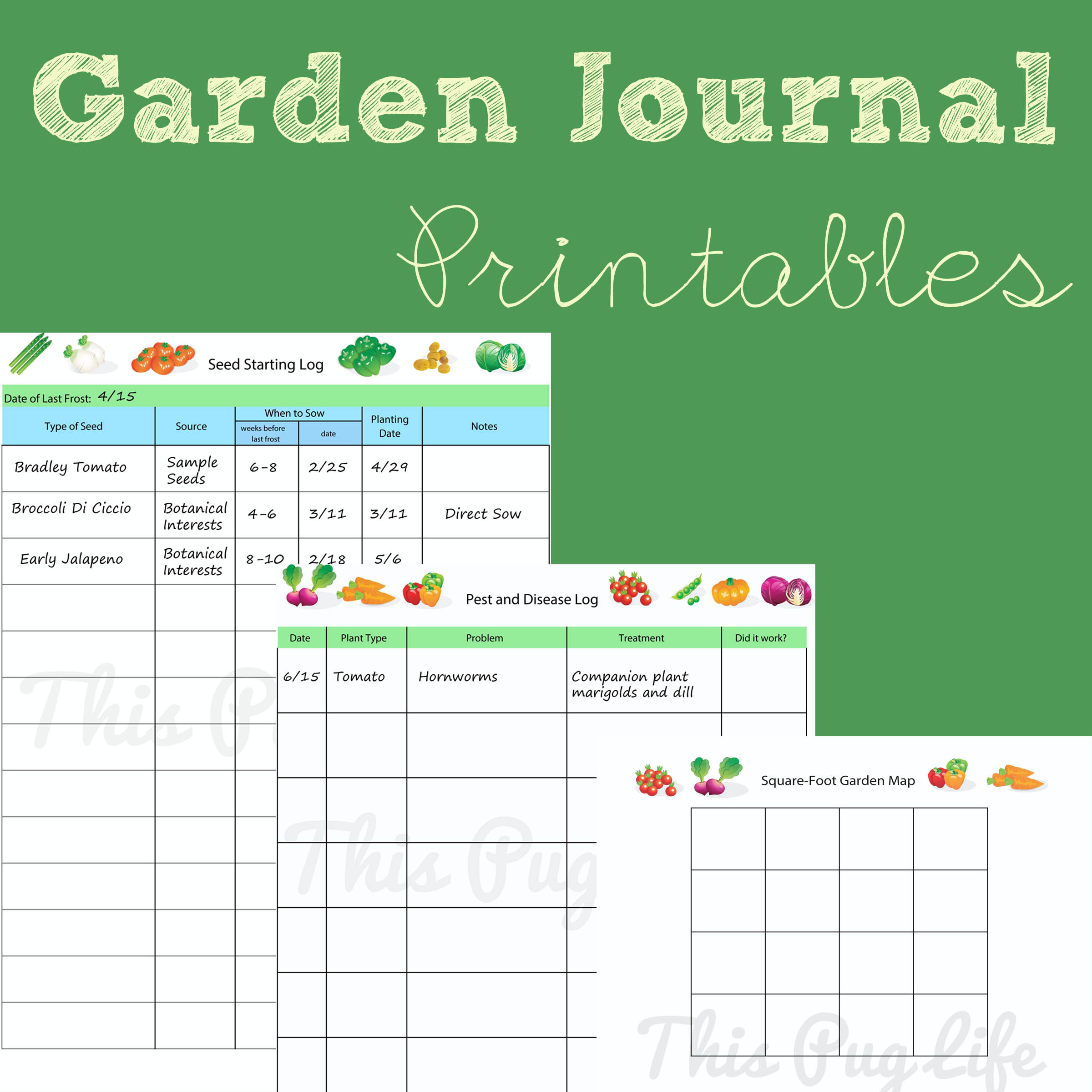 8 Images of Printable Seed Journal
