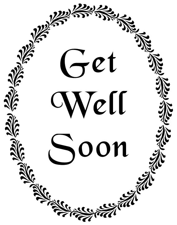 5 Images of Get Well Soon Printables