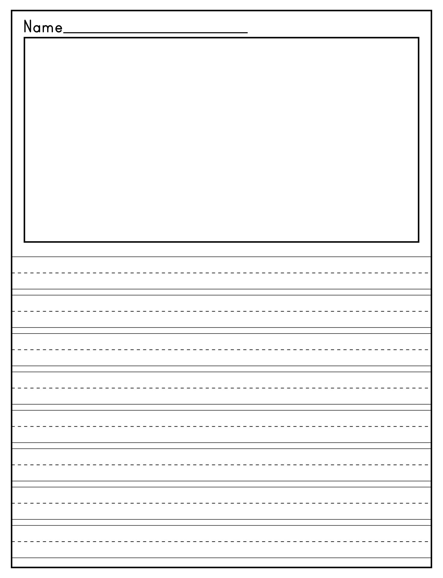 7 Best Printable Primary Writing Paper Template - Printablee.com