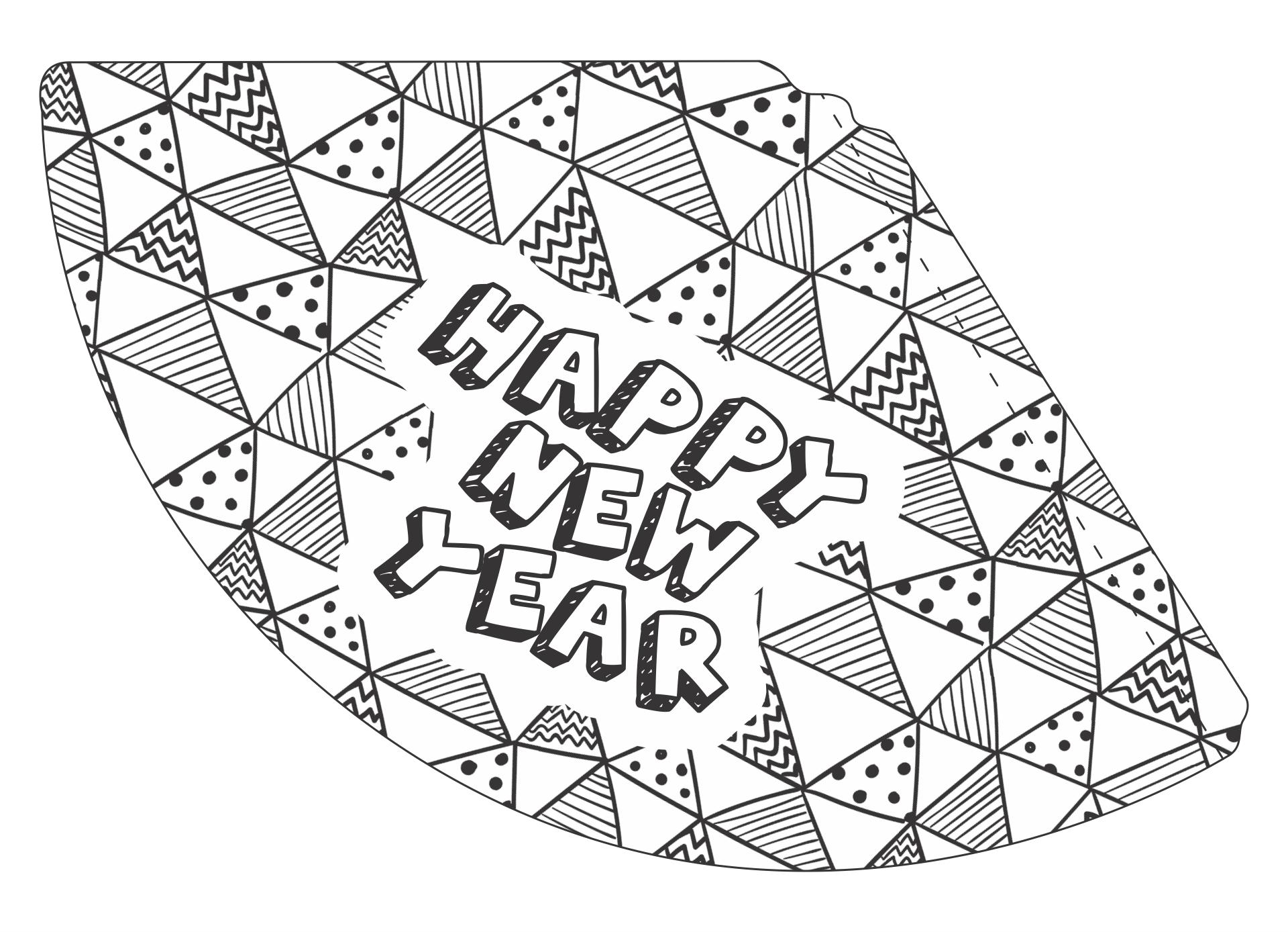 Printable New Years Hats