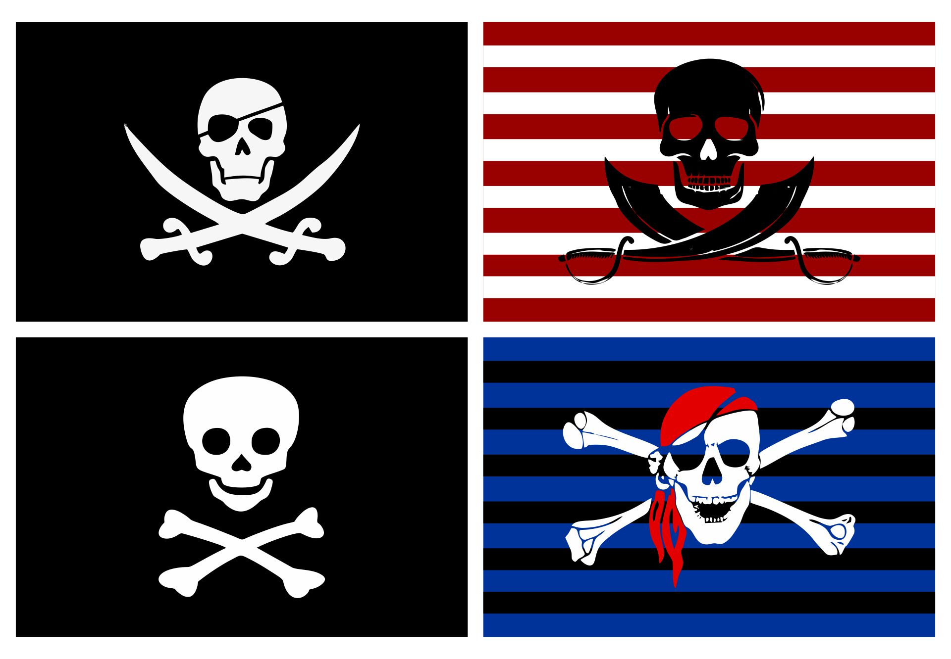 4 Images of Printable Pirate Skull And Crossbones
