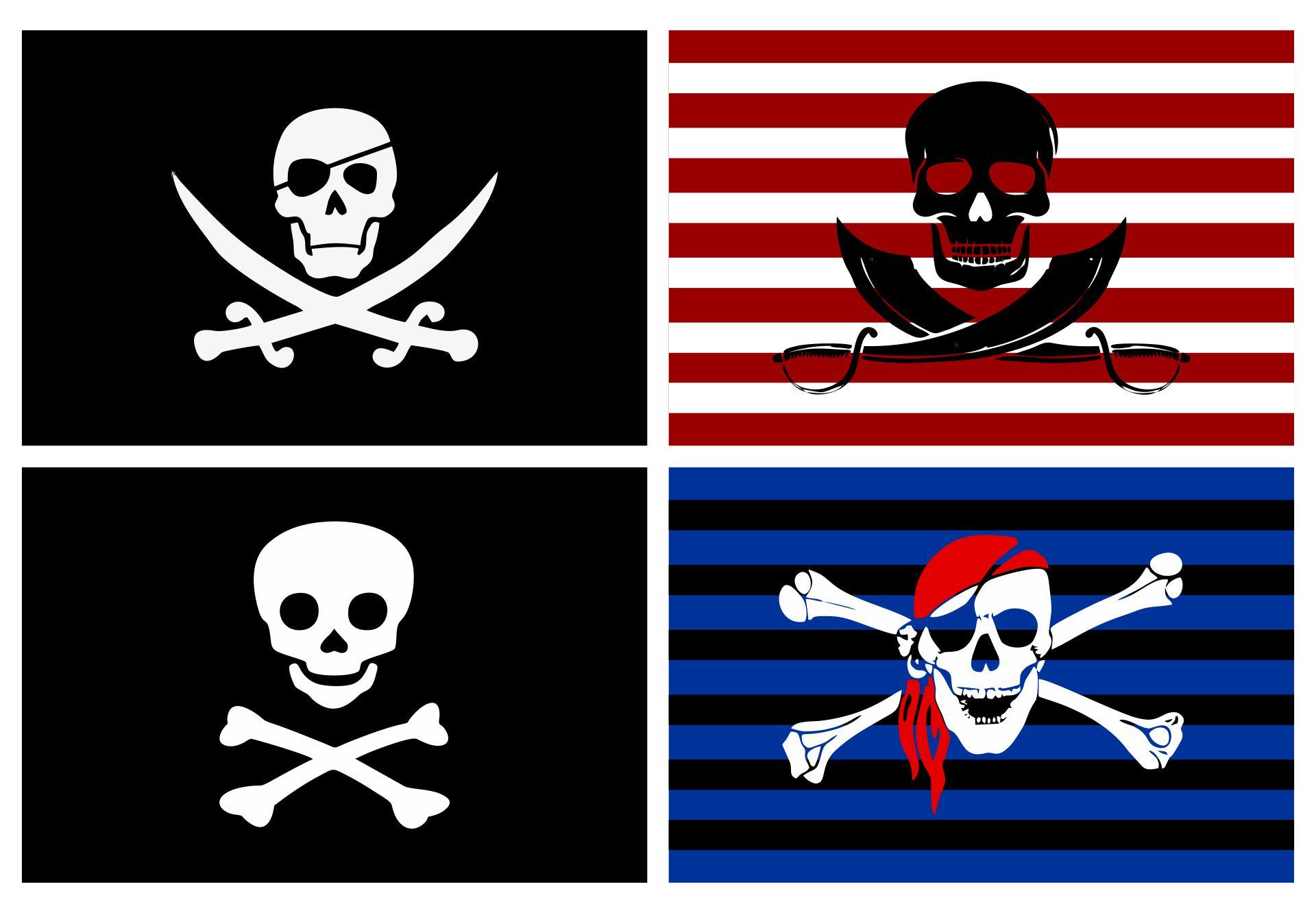 Printable Pirate Ship Flags