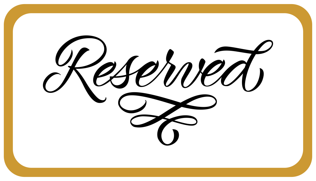 Printable Wedding Reserved Signs