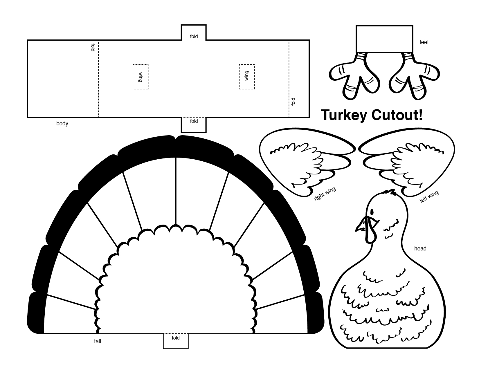 6 Images of Turkey Cutouts Printable Free