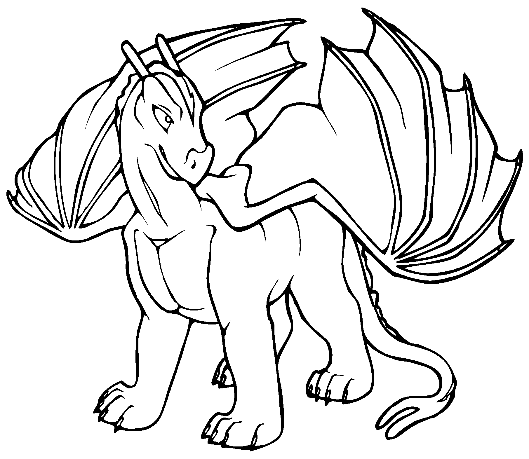 4 Images of Cartoon Dragon Coloring Pages Printable