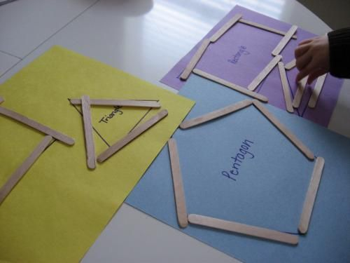 4 Images of Popsicle Stick Shapes Printable