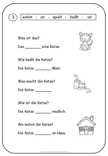 5 Images of German For Beginners Printables