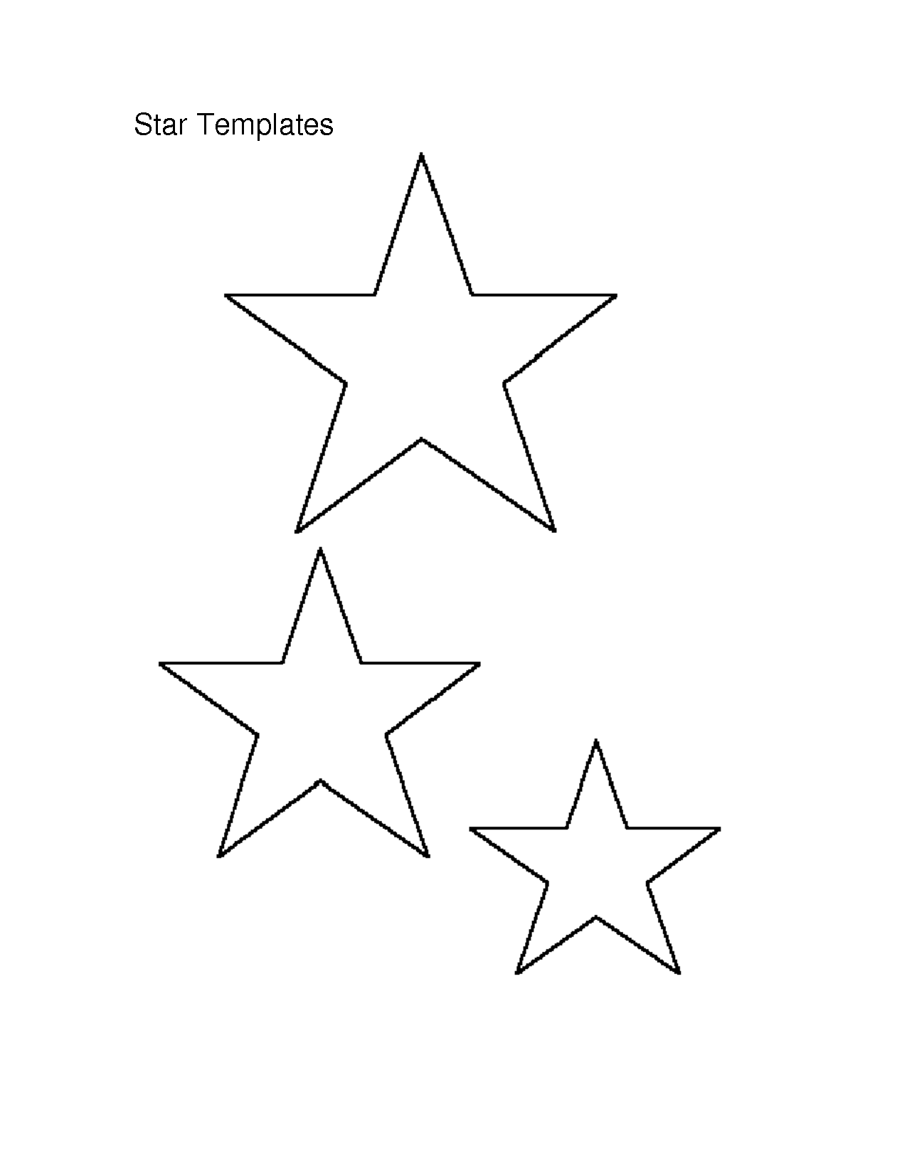 6 best images of small star stencils free printable for Small star template printable free