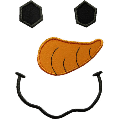 Snowman Face Applique Design