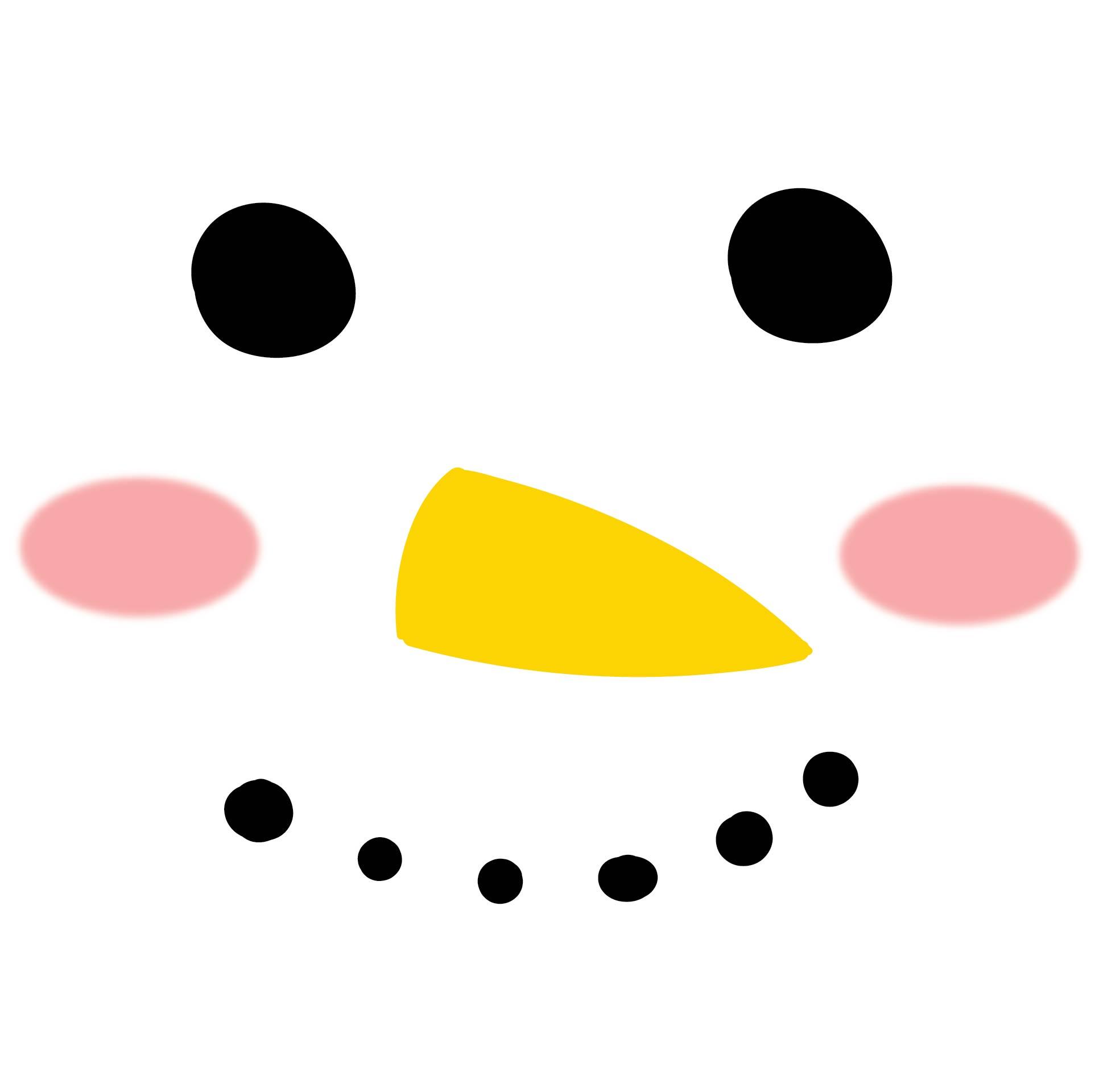 Snowman Face Template Printable
