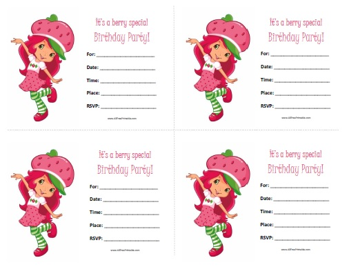 4 Images of Free Printable Strawberry Template