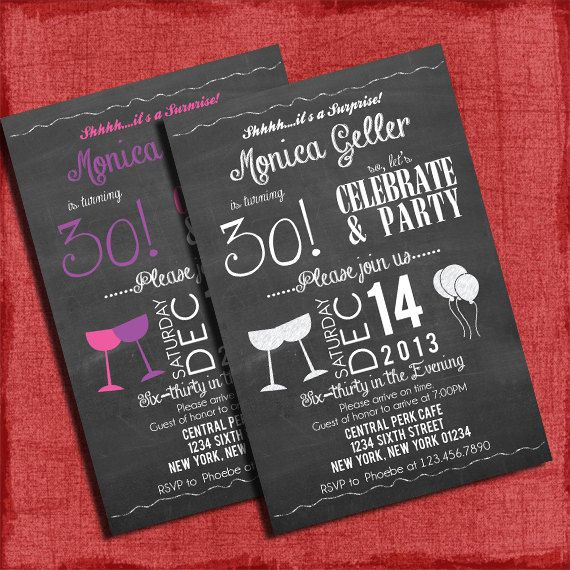 8 best images of surprise 40th birthday invitations for Template for 50th birthday invitations free printable