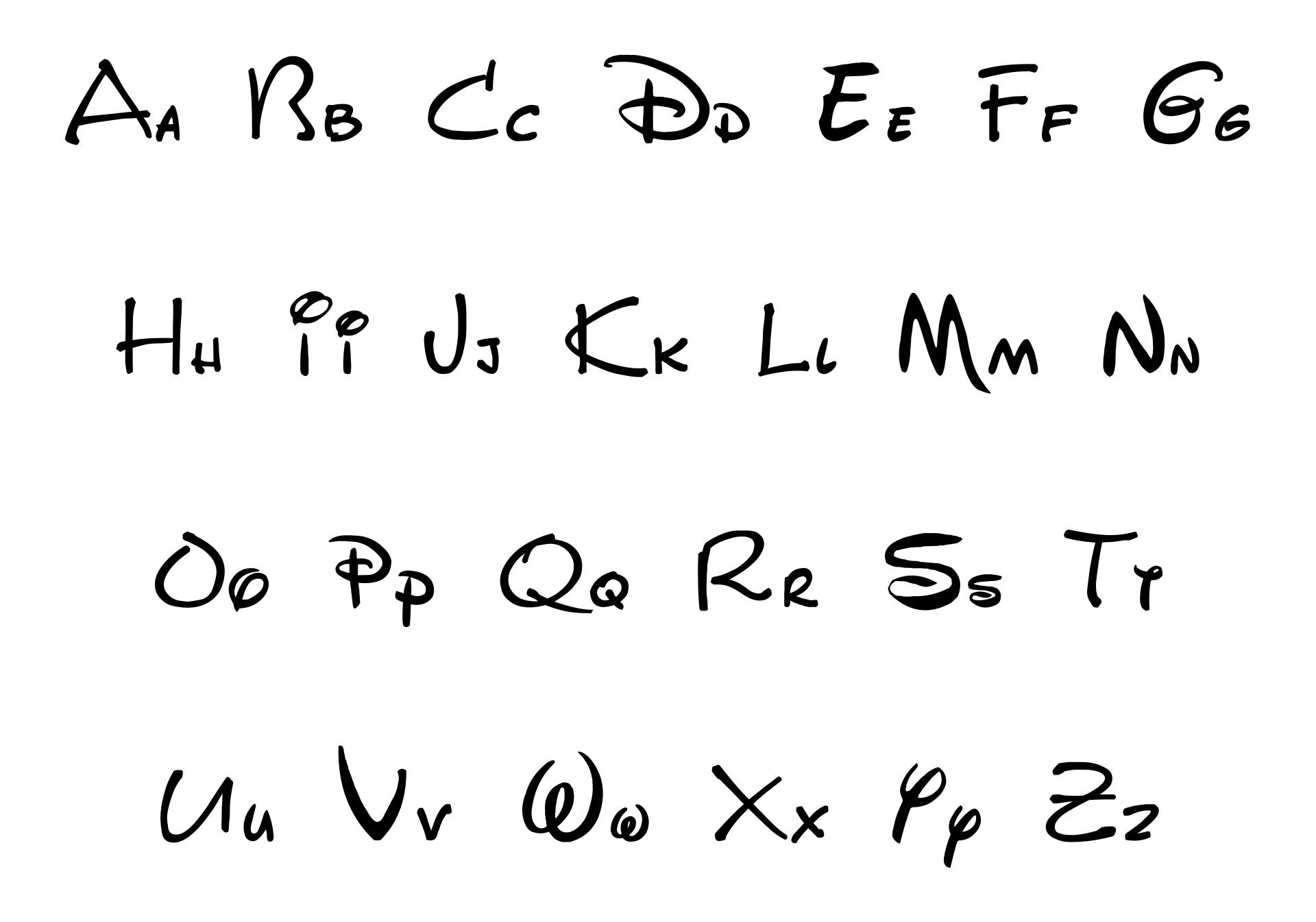 Walt Disney Script Font
