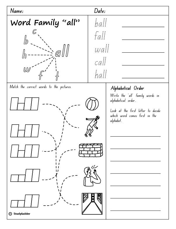 All Word Family Worksheets : Best images of id word family lists free printable