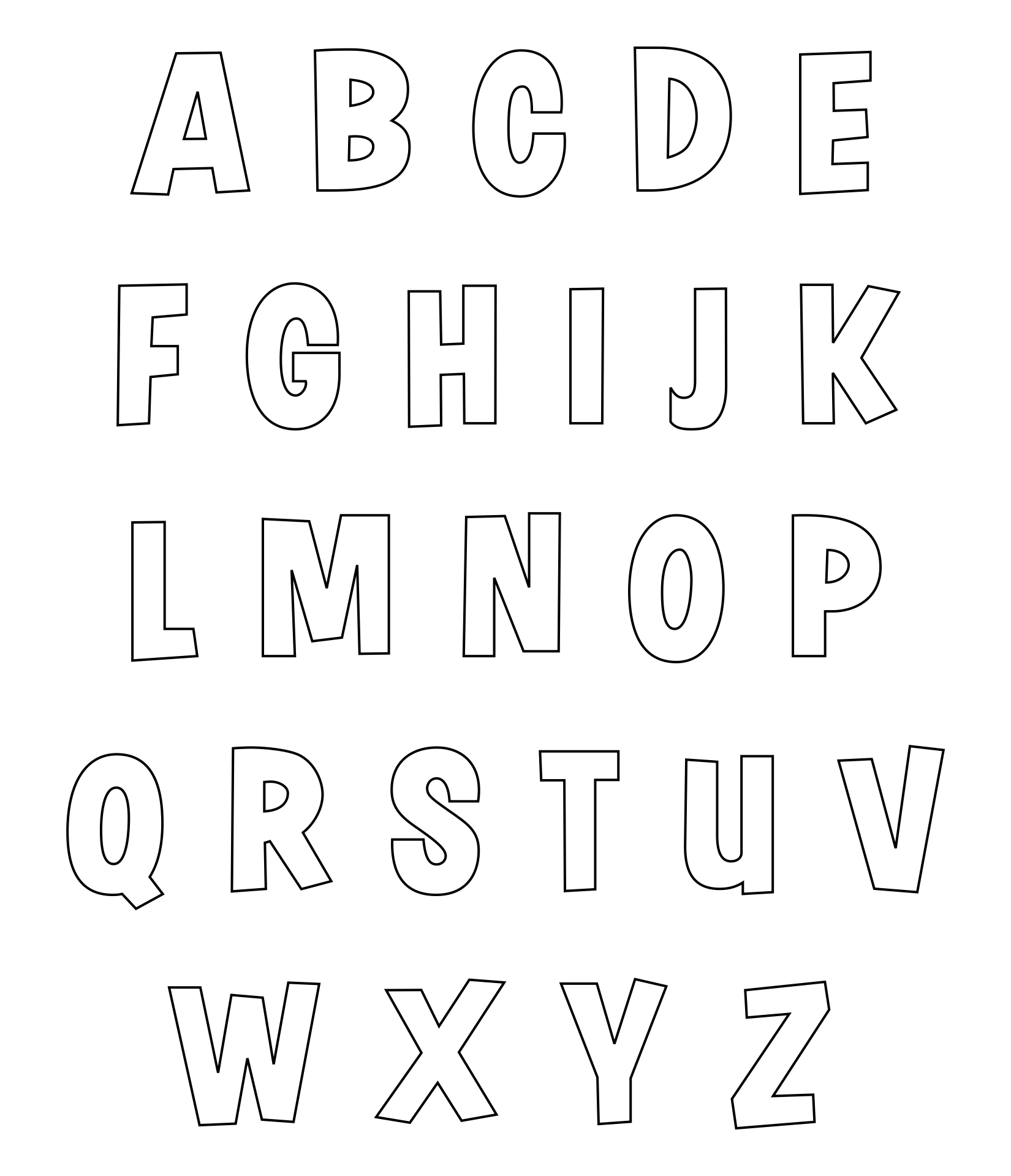 alphabet letters to trace and cut printableletters org 6 best images of printable alphabet letters to cut small 717