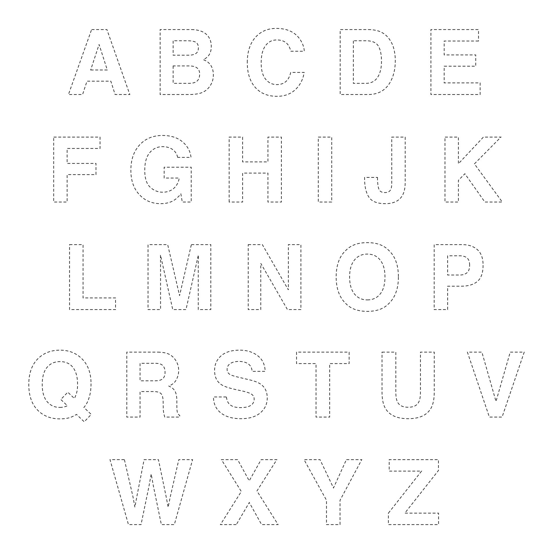 Alphabet Letters to Trace and Cut Out