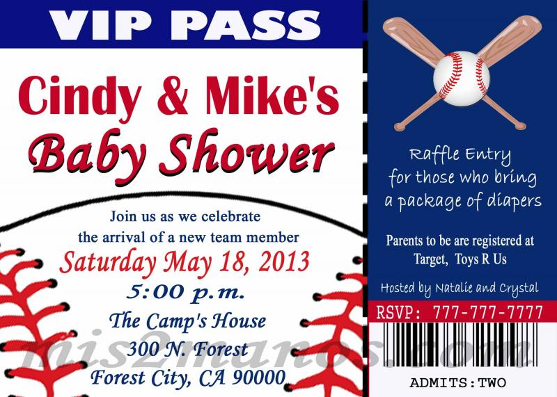 Free Baby Shower Ticket Invitation Template | ctsfashion.com