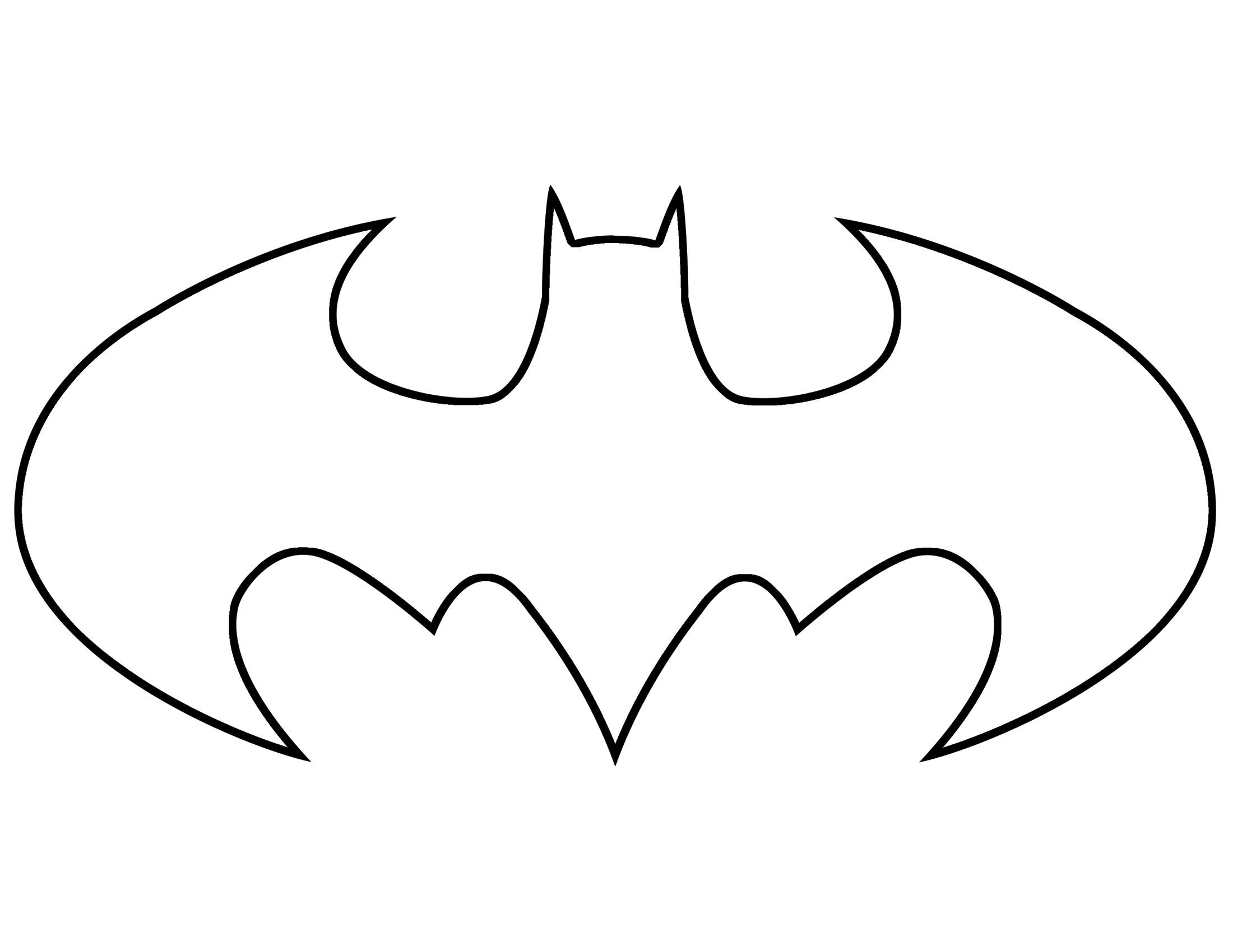 4 Images of Batman Template Printable