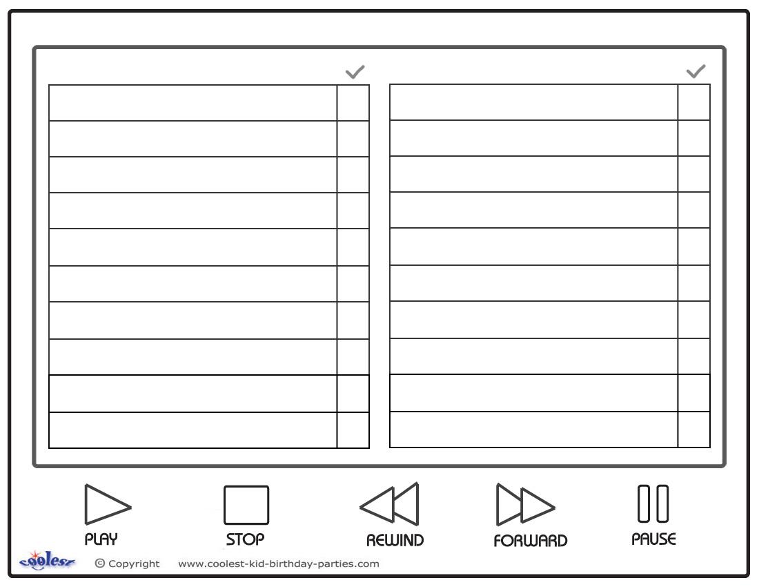 scavenger hunt list printable blank scavenger hunt template and