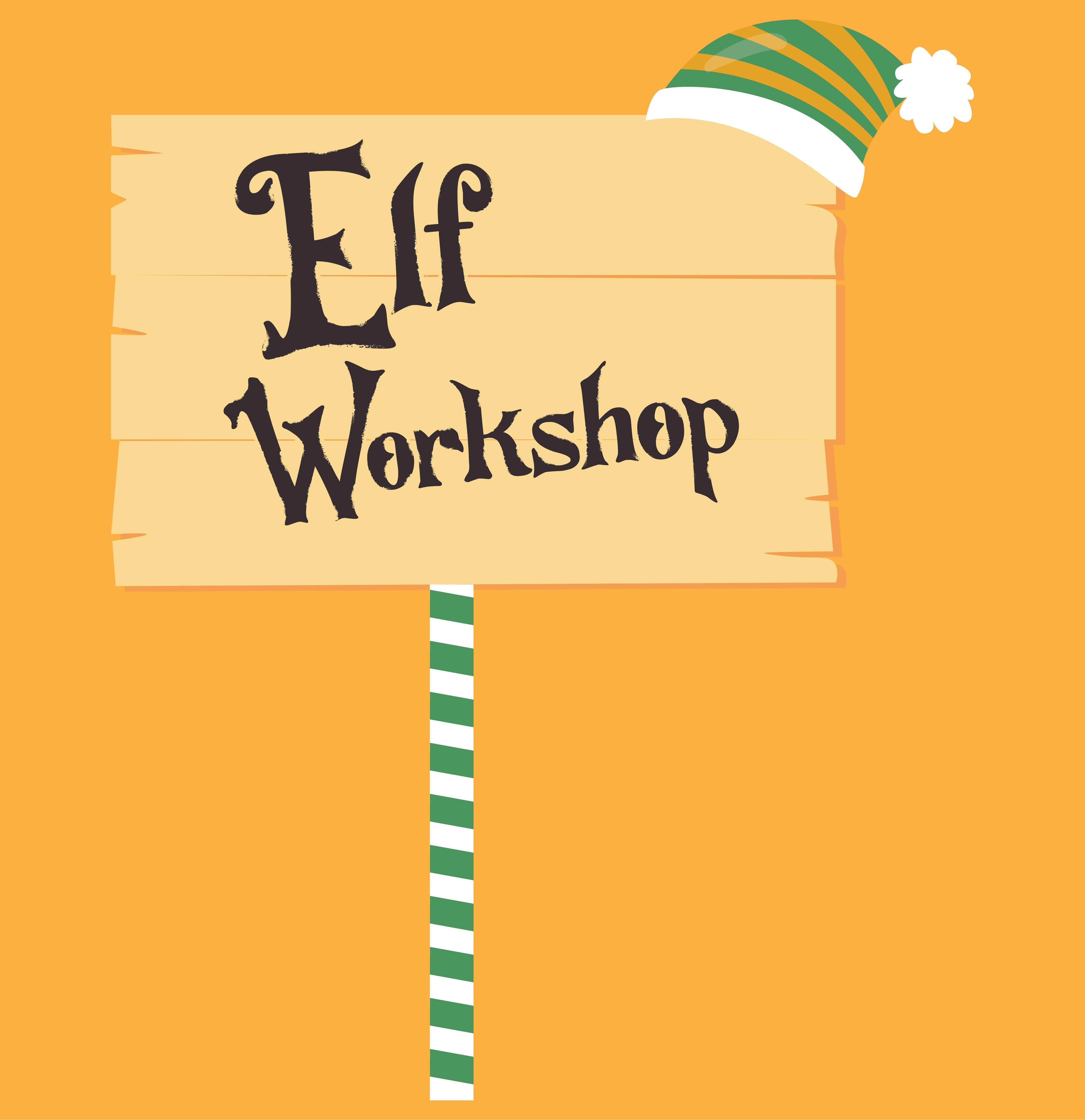 Christmas Elves Workshop Sign Printable