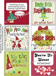 Christmas Lunch Box Notes
