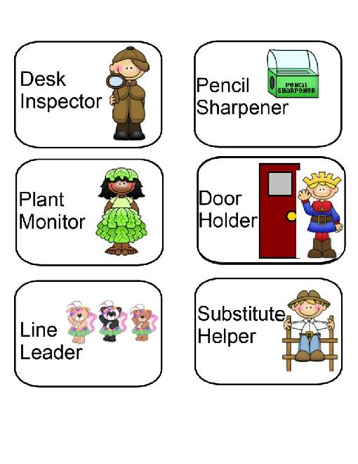 Classroom Helpers Ideas For Preschoolers ~ Best images of classroom jobs printables job