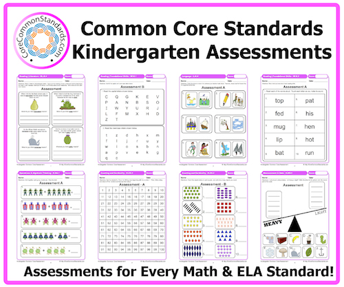 6 Images of Free Math Printable Kindergarten Assessments