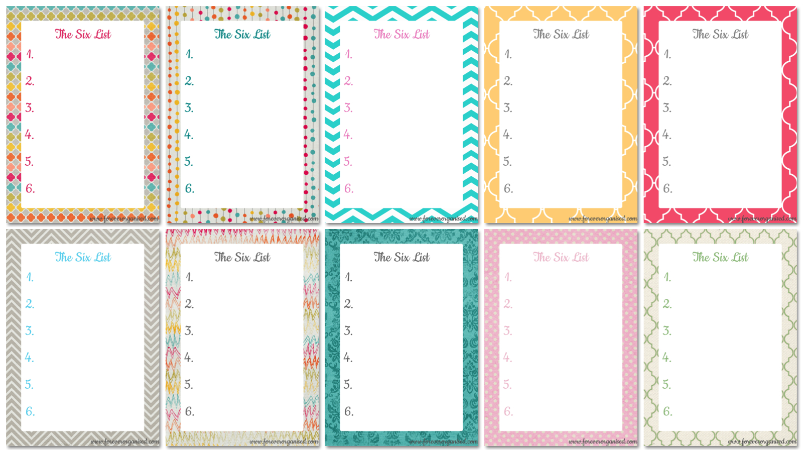 Cute Printable to Do List Template