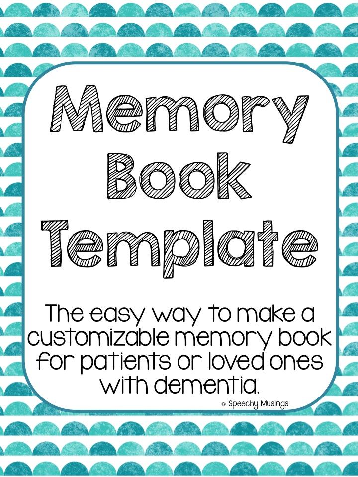 4 Images of Dementia Memory Book Printable