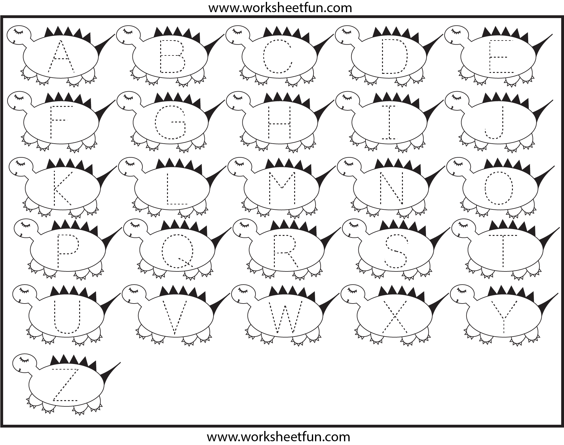 6 Images of Dinosaur Alphabet Printables