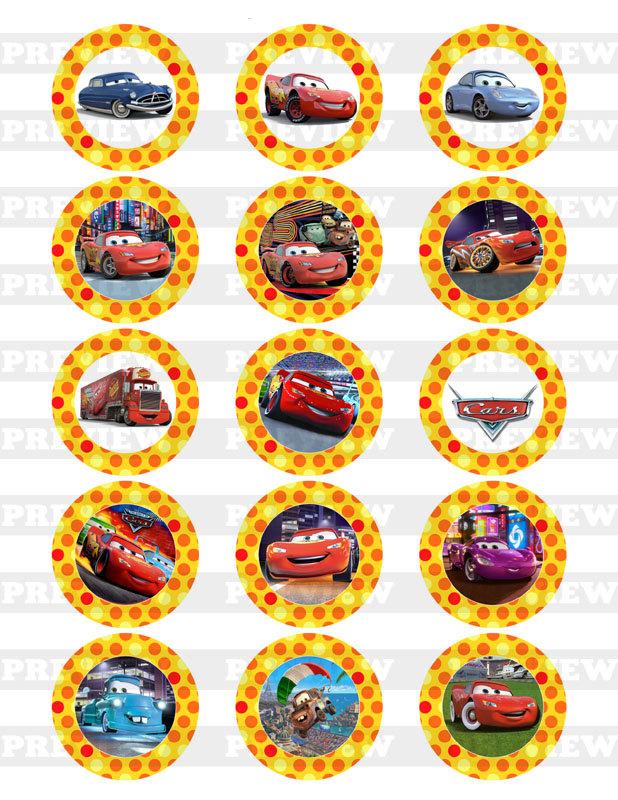 Disney Cars Cupcake Toppers Free Printables