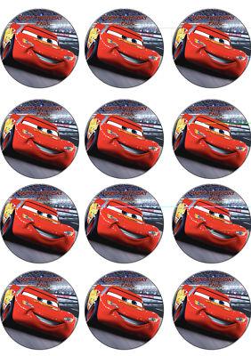 Disney Cars Edible Cupcake Toppers