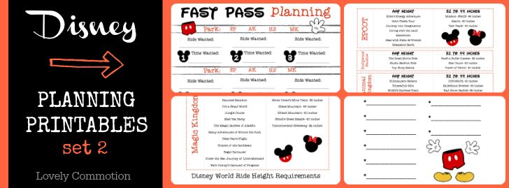 4 Images of Disney World Planning Binder Printables