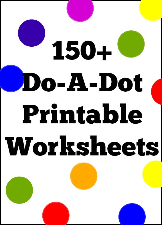 8 Images of Do A Dot Printable Worksheets