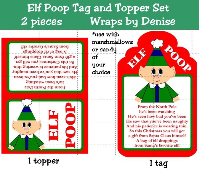 6 Best Images of Elf Poop Tag Printable - Grinch Poop Poem ...