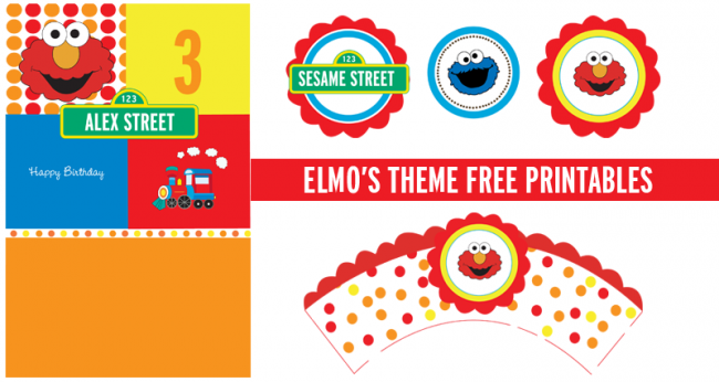 6 Images of Elmo Birthday Party Free Printables