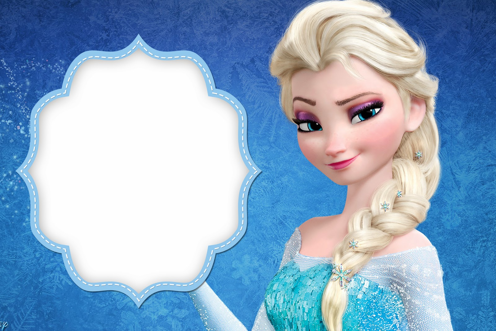 6 Images of Frozen Printable Picture Frames