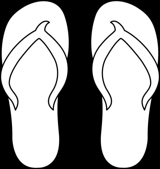 4 Images of Printable Flip Flop Clip Art